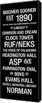 Hall Canvas Prints - Oklahoma College Town Wall ARt Canvas Print by Replay Photos