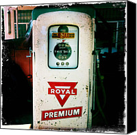 Ok Canvas Prints - Oklahoma Gas Pump Canvas Print by Matt Suess