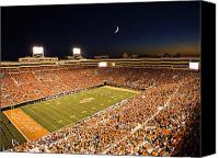 Team Canvas Prints - Oklahoma State Boone Pickens Stadium Under the Lights Canvas Print by Oklahoma State University