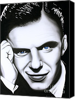Frank Sinatra Canvas Prints - Ol Blue Eyes Canvas Print by Bruce Carter