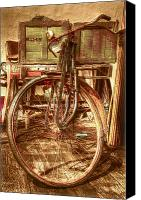 Pedals Canvas Prints - Ol Rusty Antique Canvas Print by Debra and Dave Vanderlaan