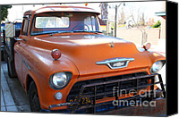 American Trucks Canvas Prints - Old American Chevy Chevrolet Truck . 7D10669 Canvas Print by Wingsdomain Art and Photography