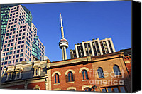 Skyline Canvas Prints - Old and new Toronto Canvas Print by Elena Elisseeva