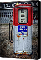 Classic Gas Pumps Canvas Prints - Old and rustu pump 2  Canvas Print by Emmanuel Panagiotakis