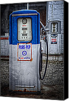 Classic Gas Pumps Canvas Prints - Old and rusty  pump  Canvas Print by Emmanuel Panagiotakis