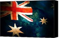 Flag Digital Art Canvas Prints - Old Australian Flag Canvas Print by Phill Petrovic