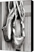 Black Tie Photo Canvas Prints - Old ballet shoes Canvas Print by Jane Rix