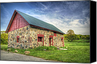 Building Canvas Prints - Old Barn at Dusk Canvas Print by Scott Norris