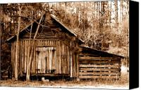 Dana Oliver Canvas Prints - Old Barn Canvas Print by Dana  Oliver