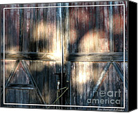 Farming Barns Canvas Prints - Old Barn Doors Canvas Print by Rose Santuci-Sofranko