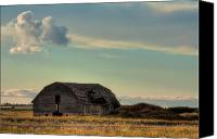 Ruin Canvas Prints - Old Barn In A Field Canvas Print by Matt Dobson