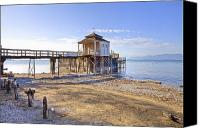 Lake Constance Canvas Prints - Old Bath House Canvas Print by Joana Kruse