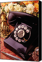 Dial Photo Canvas Prints - Old bell telephone Canvas Print by Garry Gay