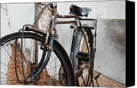 Rusty Digital Art Canvas Prints - Old Bike II Canvas Print by Robert Meanor