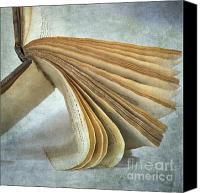 Figures Canvas Prints - Old book Canvas Print by Bernard Jaubert
