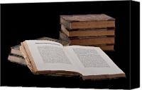 Antique Books Canvas Prints - Old Books Canvas Print by Gert Lavsen