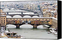 Arch Bridge Canvas Prints - Old Bridge Under Snow Canvas Print by Guido Agapito