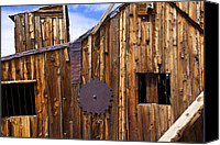 Blade Canvas Prints - Old building Bodie ghost town Canvas Print by Garry Gay