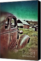 Haunted House Canvas Prints - Old Car and Ghost Town Canvas Print by Jill Battaglia