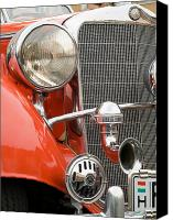 Display Cars Canvas Prints - Old car detail Canvas Print by Odon Czintos