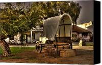 Chuck Wagon Canvas Prints - Old Chuck wagon Canvas Print by Frank Garciarubio