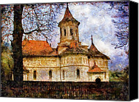 Religions Canvas Prints - Old Church with Red Roof Canvas Print by Jeff Kolker