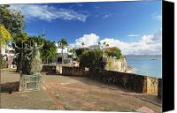 Old San Juan Canvas Prints - Old City in the Caribbean Canvas Print by George Oze