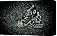 Dave Canvas Prints - Old Converse Canvas Print by Gert Lavsen