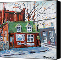 Prankearts Canvas Prints - Old Corner Store Montreal by Prankearts Canvas Print by Richard T Pranke