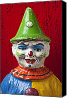 Clowns Canvas Prints - Old Cown face Canvas Print by Garry Gay