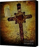 Potography Canvas Prints - Old Cross Canvas Print by Perry Webster