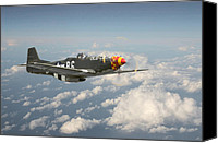 P51 Mustang Canvas Prints - Old Crow Canvas Print by Pat Speirs