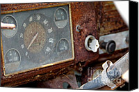 Old Things Canvas Prints - Old Dashboard Canvas Print by Pauline Ross