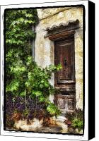 Door Pyrography Canvas Prints - Old Door 2 Canvas Print by Mauro Celotti