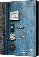 Door Canvas Prints - Old door bells Canvas Print by Carlos Caetano
