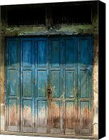 Door Canvas Prints - old door in China town Canvas Print by Setsiri Silapasuwanchai