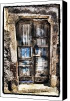 Digital Prints Pyrography Canvas Prints - Old Door Canvas Print by Mauro Celotti