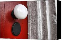 Old Wall Canvas Prints - Old Doorknob Canvas Print by Olivier Le Queinec