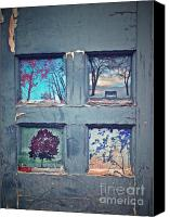 Photomanipulation Canvas Prints - Old Doorways Canvas Print by Tara Turner