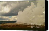 Volcanic Activity Canvas Prints - Old Faithful Canvas Print by Jeff  Swan