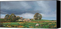 Rural Scenes Canvas Prints - Old Farm - Monyash - Derbyshire Canvas Print by Trevor Neal
