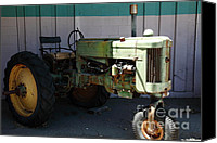Farm Equipment Canvas Prints - Old Farm Tractor . 5D16618 Canvas Print by Wingsdomain Art and Photography