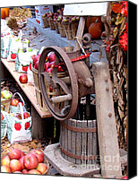 Old Things Canvas Prints - Old fashion apple press Canvas Print by Pauline Ross