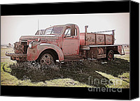 Old Trucks Canvas Prints - Old Fier Truck Canvas Print by Irina Hays