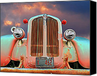 Truck Canvas Prints - Old Firefighter Canvas Print by Ron Day