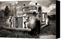 Siren Canvas Prints - Old Firetruck Canvas Print by Marilyn Hunt