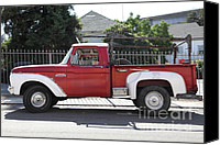 Old Trucks Photo Canvas Prints - Old Ford 100 Truck . 5D16794 Canvas Print by Wingsdomain Art and Photography