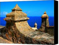 Puerto Rico Photo Canvas Prints - Old Fort Puerto Rico Canvas Print by Perry Webster