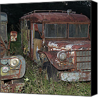 Old Trucks Canvas Prints - Old Friends Canvas Print by Joseph G Holland