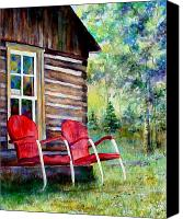 Cabin Canvas Prints - Old Friends Canvas Print by Mary Giacomini